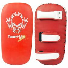 TurnerMAX Thai Boxing Pad Punch Gear MMA Training Red White Straight Single