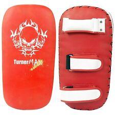 TurnerMAX Boxe Pad Thai Punch Gear MMA TRAINING rosso bianco dritto singolo
