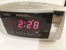 Emerson Research SmartSet Dual Alarm Clock Radio CKS5055S Silver Red LED WORKS