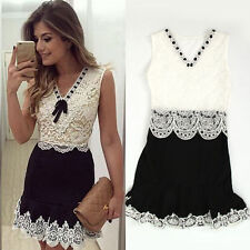 Lace Mini V-Neck Casual Dresses for Women