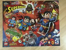 SDCC 2018 Comic Con EXCLUSIVE LEGO Superman DC 80 Years Poster