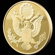 Annuit Coeptis Egyptian Pyramid God American Eye 1oz Gold Plated Souvenir Coin