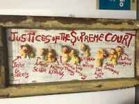 """Greg Haberny""""Justices of the Supreme Court"""" Mixed Media on Wood"""