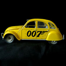 Vintage James Bond 007 Citroen Diecast 1:17 Solido France For Ur Eyes Only 2 CV