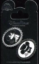 Wedding Mickey Minnie Ear Hats Mr Mrs 2 Pin Set Disney Pin 74249