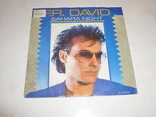 """F.R. DAVID - Sahara Night - 1986 UK 2-Track 7"""" Single"""