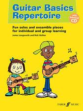 Guitar Basics Repertorio educativos Tablatura Para Guitarra Principiante Faber música Book & Cd