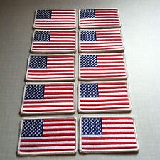10 UNITED STATES Flag Patch with VELCRO® Brand fastener USA Military Tactical #1