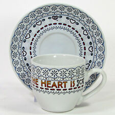 Mary Engelbreit Home Is Where 7oz Cup & Saucer Set Time For Tea The Heart Is