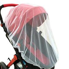 """2xWhite Baby Mosquito Insect Net For Stroller 59""""x47"""" with Blue Pink Jingle Bell"""