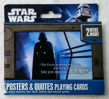 Star Wars Playing Cards - Posters and Quotes - 2 decks - Still sealed