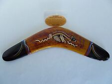 Aboriginal Wood Hand Crafted Kangaroo Throwing Boomerang. Made in Australia