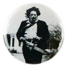 "1"" (25mm) 'Leatherface' Chainsaw Massacre Horror Button Badge Pin - Custom Badge"