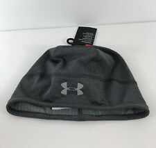 Under Armour Men's ColdGear Beanie Charcoal color w Reflective Hiking Running