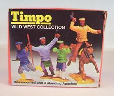 Timpo toys 723 Mini Box 1 reitender & 3 qui Apaches OVP #877