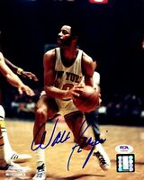 Walt Frazier autographed signed 8x10 photo NBA New York Knicks PSA Photo File