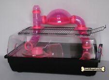 "Hamsterkäfig ,Vollplastik, "" ALEX- TUBA "" + 8 Röhren & Plattform pink"