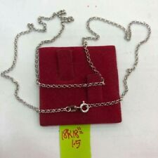 GoldNMore: 18K Gold Necklace 18 inches chain white gold OPFG