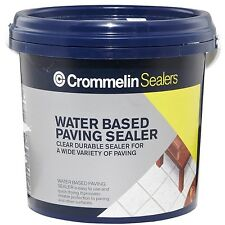 Crommelin WATER BASED PAVING SEALER 1L Semi-Gloss Finish, UV Resistant AUS Brand