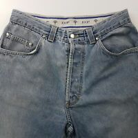 JOOP!  Mens Vintage Jeans W32 L33 Light Blue Relaxed Loose Fit Tapered High Rise
