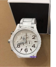 New A0831255 Nixon Watch 51-30 Men CHRONO ALL White Silver A083-1255*