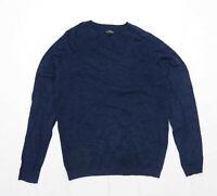 Next Mens Size M Cotton Blend Blue Jumper