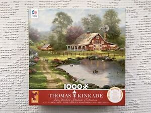 Thomas Kinkade Ceaco Puzzle 2020 1000Pc Red Barn Retreat NIB