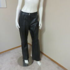 ST JOHN SPORT BY MARIE GRAY LEATHER PANT WOMEN'S LADIES BLACK SIZE 10