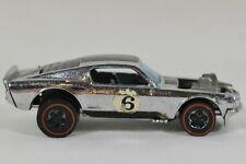 Vtg 1969 Mattel Hot Wheels Redline Mustang Boss Hoss Chrome #6