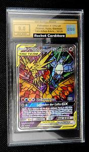Pokemon Arktos Zapdos Lavados GX SM 210 Deutsch PSA EGS 9,5 Gold Label Gem Mint