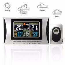 ABS Digital LCD Indoor/Outdoor Wireless Weather Station Clock Thermometer