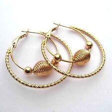 Beautiful Lead Nickel Free Gold Colour Hoop Earrings.