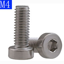 M4 x 0.7 4mm Low Head Allen Bolt Hex Socket Cap Screws - A2 304 Stainless Steel