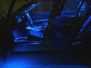 9x BLUE LED Lamps Interior Lighting Peugeot 3008