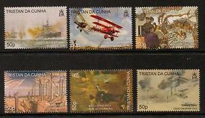 TRISTAN DA CUNHA SG925/30 2008 END OF FIRST WORLD WAR MNH