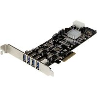 Startech.com 4 Port Dual Bus Pci Express [pcie] Superspeed Usb 3.0 Card Adapter