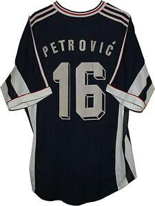WOW 1998 MATCH WORN #16 PETROVIC Yugoslavia Football SHIRT Jersey ADIDAS size XL