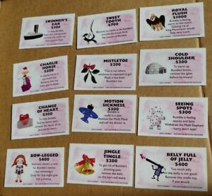 Rudolph Red Nose Reindeer Operation Game Parts Pieces- 12 Doctor Cards