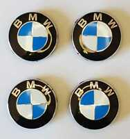 4 Tappi Coprimozzo Logo BMW Serie 5 E12 E28 E34 E39 E 2016> Borchie cerchi Lega