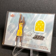 Shaquille O'Neal 2000-01 Fleer Tradition Feel the Game - Game-Worn Jersey Patch