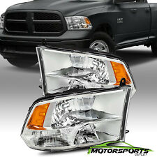 [Anti-Fog] 2009-2018 Dodge Ram 1500/2500/3500 Chrome Quad Headlights