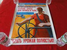 Vintage Original Period Russian Ww2 Poster 23 x 17