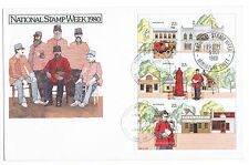 1980 NATIONAL STAMP WEEK MINIATURE SHEET FDC FIRST DAY COVER