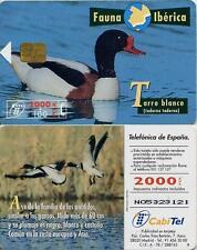 2000 PTA. Fauna Ibérica. Tarro blanco. CabiTel