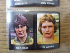 1979/1980 Football Sticker 79/80: 443) Hibernian - Jim McArthur & 223) Norwich C