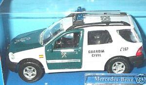 "wonderful Spanish policecar  MERCEDES ML320 ""GUARDIA CIVIL"" - scale 1/43"