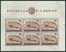 **/* San Marino 1951: Foglietto UPU [Lire 300 Posta Aerea] Tiratura 10.000