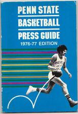 1976-77 PENN STATE BASKETBALL MEDIA GUIDE PRESS