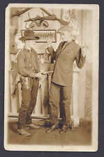 Ca 1910 UNPOSTED REAL PHOTO OF HOLD UP, NO LOCATION