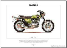 SUZUKI GT550  Motorcycle Fine Art Print 3-cylinder Indy